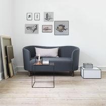 Canapé design scandinave / en tissu / 3 places / gris