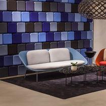 Canapé contemporain / en résille / en cuir / professionnel