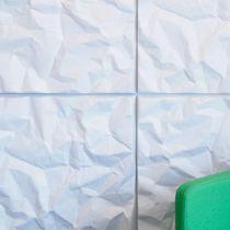 Panneau acoustique mural / en fibre de polyester / coloré / décoratif