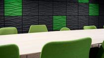 Panneau acoustique pour agencement intérieur / en fibre de polyester / coloré / pour bureau