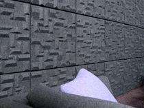 Panneau acoustique mural / en fibre de polyester / coloré / pour bureau