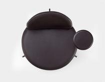 Chaise visiteur contemporaine / pivotante / à tablette / tapissée