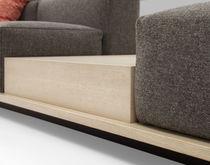 Canapé modulable / contemporain / en cuir / en bois