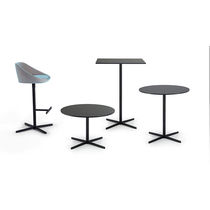 Table mange-debout contemporaine / en acier / en chêne / en stratifié