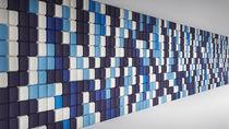 Panneau acoustique pour agencement intérieur / en fibre de polyester / design / pour bureau