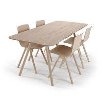 Table contemporaine / en chêne / en frêne / rectangulaire