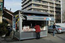 Kiosque à journaux / en acier inox / pour espace public