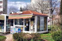 Kiosque commercial / en métal / pour espace public