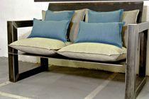 Canapé contemporain / de jardin / en tissu / en acier