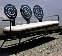 Canapé design original / en tissu / en cuir / en acier