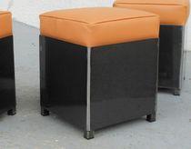 Pouf contemporain / en tissu / en cuir / en acier