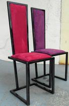 Chaise contemporaine / tapissée / cantilever / en velours