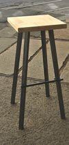 Tabouret de bar contemporain / en bois / en acier