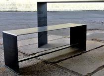 Console contemporaine / en acier / rectangulaire / sur mesure