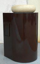 Meuble vasque à poser / en acier / contemporain