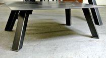 Table basse contemporaine / en acier / rectangulaire