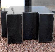 Table basse design original / en acier / modulable / à roulettes