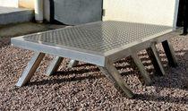 Table basse contemporaine / en acier / en tôle / rectangulaire