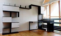 Bureau en acier / contemporain / avec rangement intégré