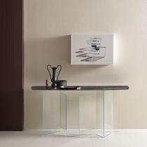 Console contemporaine / en verre / en marbre / en céramique