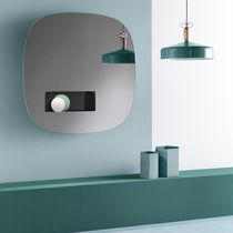 Miroir mural / lumineux (LED) / avec rangement / contemporain