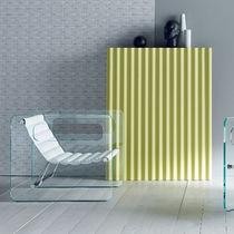 Fauteuil design original / en cuir / en verre / noir