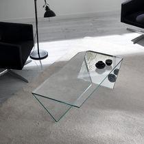 Table basse contemporaine / en verre / rectangulaire / 100% recyclable
