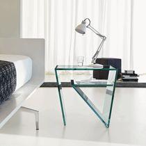 Table d'appoint contemporaine / en verre / rectangulaire