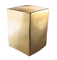 Table d'appoint contemporaine / en métal / cube / par Philippe Starck