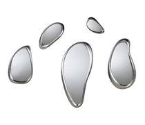 Miroir mural / design original / argenté / par Philippe Starck