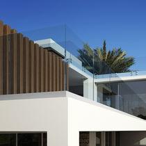 Garde-corps d'extérieur / en verre / à barreaux / pour balcon