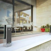 Pince à verre en aluminium / pour panneaux / pour balcon