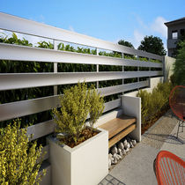Clôture de jardin / à lames / en aluminium