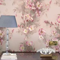 Papiers peints classiques / en coton / à motifs floraux / peints à la main