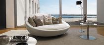 Canapé rond / contemporain / en cuir / en tissu