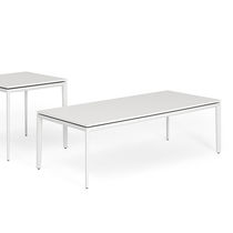 Table basse / contemporaine / agglomérée / en aluminium