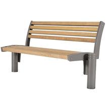 Banc public / de jardin / classique / en bois