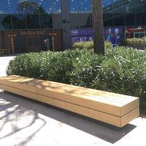 Banc public / de jardin / design minimaliste / en bois
