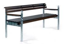 Banc public / classique / en bois / en métal