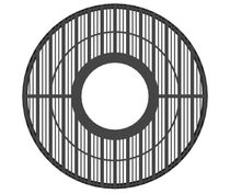 Grille d'arbre en métal / ronde
