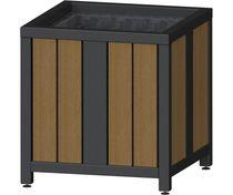 Jardinière en métal / en bois / carrée / contemporaine