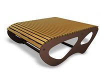 Table contemporaine / en bois / rectangulaire / pour espace public