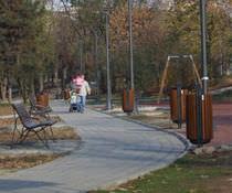 Poubelle publique / en bois / contemporaine