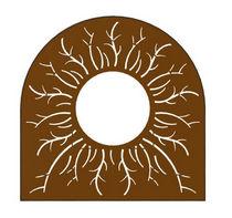 Grille d'arbre en acier COR-TEN® / autre forme