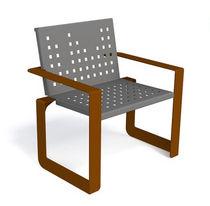 Fauteuil contemporain / en métal / pour espace public