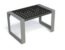 Tabouret contemporain / en métal / pour espace public / d'extérieur