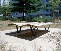 Chaise longue contemporaine / en bois / d'intérieur / d'extérieur