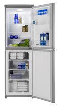 Réfrigérateur congélateur résidentiel / à double porte / gris / écologique
