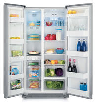 Réfrigérateur congélateur résidentiel / américain / en inox / encastrable