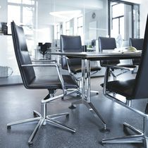 Chaise de conférence tapissée / avec accoudoirs / piètement étoile / réglable